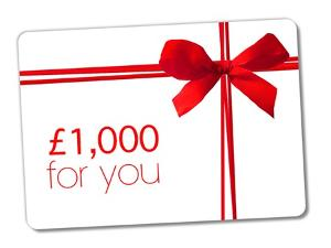 £1,000 Amazon voucher Giveaway!
