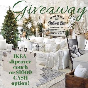 $1,000 Cash or IKEA Slipcover Couch