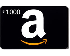 $1,000 in Amazon/Steam Gift Cards