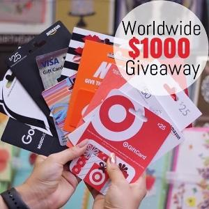 $1,000 in Gift Cards