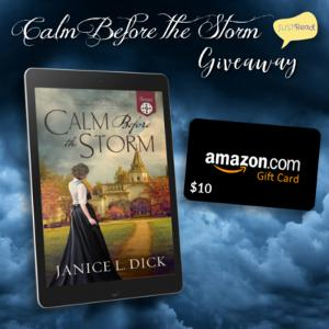 (1) winner will receive a Calm Before the Storm ebook + $10 Amazon gift card!