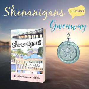 (1) winner will receive a print copy of Shenanigans and a story inspired glass ornament! Plus (1) additional winner will receive a print copy of Shenanigans!