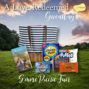 (1) winner will receive a S'more Picnic Fun prize package including a canvas picnic tote with a wicker bottom along with s'more fixings and a copy of A Love Redeemed!