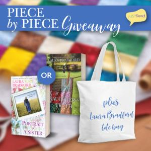 """(1) winner will receive an """"Escape Into a Laura Bradford book"""" tote & winner's choice of Portrait of a Sister or A Daughter's Truth!"""