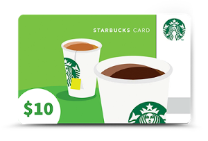 $10/£10 Starbucks digital gift card from Poppy Blake
