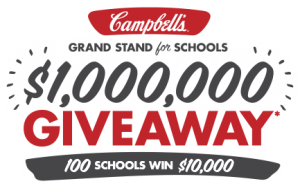$100,000 For a School of your choice and Instant Win prize of $175 Visa Gift Card