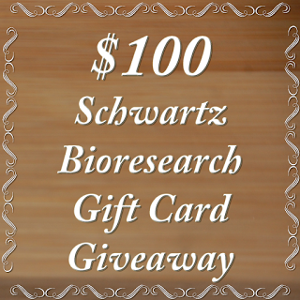 $100 Amazon GC to purchase Schwartz Bioresearch Supplements