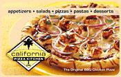 $100 California Pizza Kitchen Gift Card