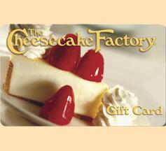 $100 Cheesecake Factory Gift Card