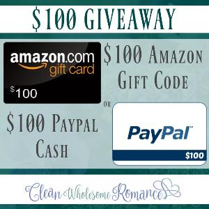 $100 Giveaway – Enter to win #PayPal Cash or an #Amazon Gift Card!