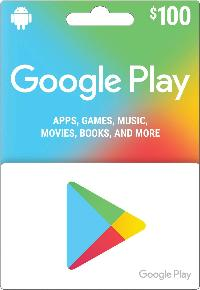 $100 Google Play Store Gift Card