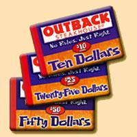 $100 Outback Steakhouse Gift Card