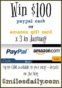 $100 PayPal Cash or Amazon Gift Card