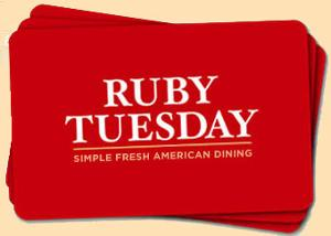 $100 Ruby Tuesday Gift Card