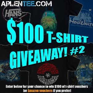 $100 T-Shirt giveaway #2