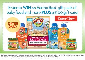 $100 Visa gift card & Earths Best brand gift pack