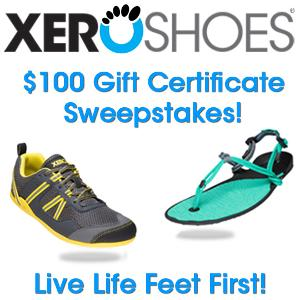 $100 Xero Shoes Gift Certificate Giveaway