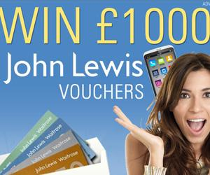 £1000 of John Lewis Vouchers Giveaway!