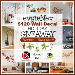 $120 evgieNev Wall Decal Giveaway image
