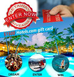 $1500 Hotels.com Gift Card Giveaway