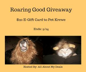 $20 E-gift card to Pet Krewe button