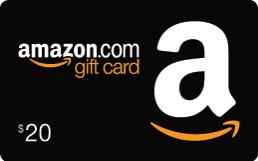 $20 in Amazon Gift Cards