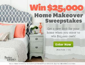 Contest Better Homes And Gardens 25 000 Home Makeover Sweepstakes