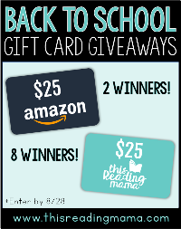 $25 Amazon Gift Card (2 winners) & $25 to This Reading Mama's Shop (8 winners)!