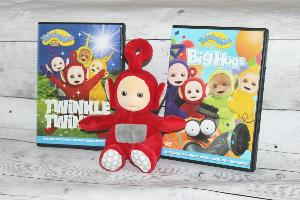 $25 Amazon gift card and Teletubbies DVDs