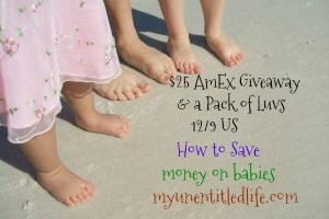 $25 Amex Luvs Giveaway