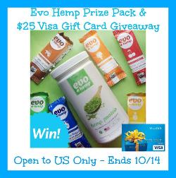 $25 Visa Gift Card & Evo Hemp Prize Pack
