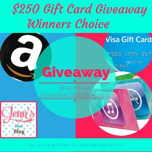 $250 Winners Pick It Gift Card Giveaway!