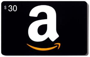 $30 AMAZON GIFT CARD GIVEAWAY
