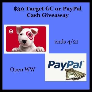 $30 Target Gift Card or Cash Giveaway!