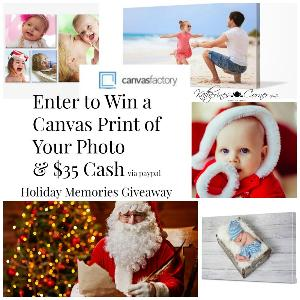 $35 Cash or Gift Card + Photo Canvas Art