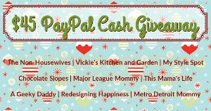 $45 PayPal Cash Giveaway!