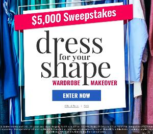 $5,000 Sweepstakes Dress for your Shape Makeover!