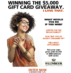 $5,000 Willowbrook Shopping Centre Gift Card