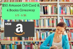 $50 Amazon Gift Card and 4 Books Giveaway