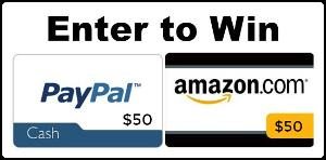 $50 Amazon Gift Card or Paypal Cash