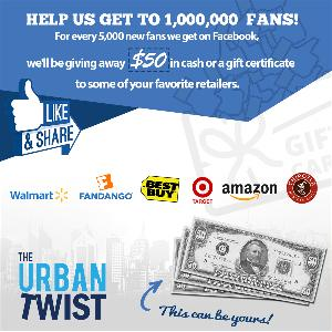 $50 Cash or Gift Certificate to Retailer of Your Choice