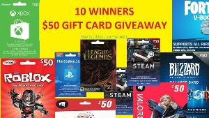 $50 Gift card (platform the participant desires)-10 WINNERS!!