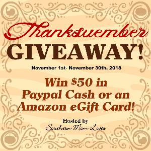 $50 in Paypal Cash or an Amazon Gift Card Giveaway