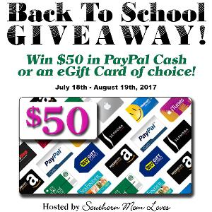 $50 PayPal Cash/Gift Card