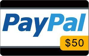 $50 PayPal Cash/Gift Card of Choice