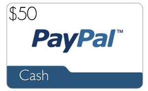 £50 PayPal Cash/Gift Card of Choice