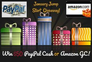$50 PayPal Cash or Amazon GC Giveaway