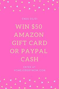 $50 PayPal or Amazon Cash
