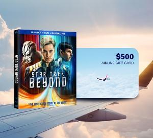 $500 Airline Gift Card + Star Trek Beyon on Blu-Ray Combo Pack Giveaway!