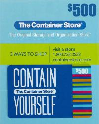 $500 Container Store